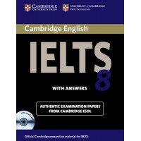 Cambridge English IELTS 8 with answers and audio CD