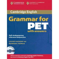 Cambridge English Grammar for Pet and Cd