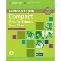 Compact First for Schools Workbook with Answers with Audio