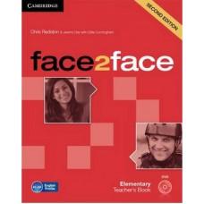 Face2Face Elementary Teacher's Book with Dvd