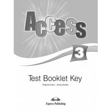 Access 3 Test Booklet Key