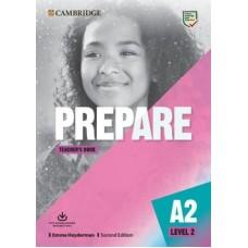 Prepare A2 Level 2 (KEY for Schools) - Teacher's Book with e-Source Access Code